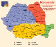 Romania map @ European Union