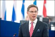 Finnish Prime Minister Jyrki Katainen address the EP during the debate on the future of Europe