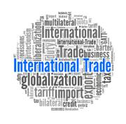 Words of International Trade in word collage