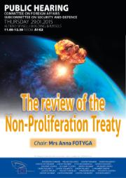 "Poster SEDE Public Hearing: Poster ""The review of the Non-Proliferation Treaty"""