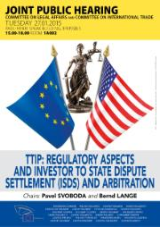 TTIP dispute settlement and arbitration