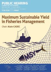 Public Hearing on Maximum Sustainable Yield in fisheries management - Monday 23.02.2015
