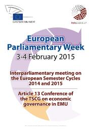 European Parliamentary Week 3-4 february 2015
