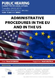 Hearing on Administrative procedures in the EU and in the US