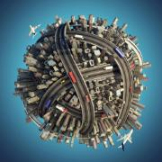 Urban transport globe