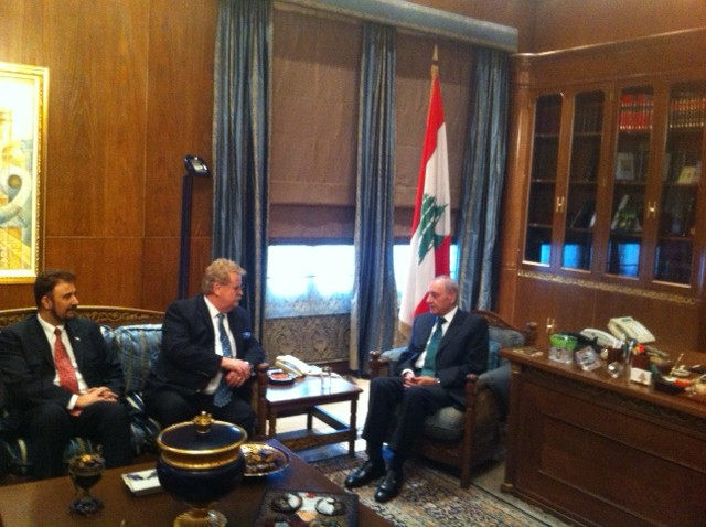 Meeting with HE Mr Nabih Berri President of the Lebanese Parliament .JPG