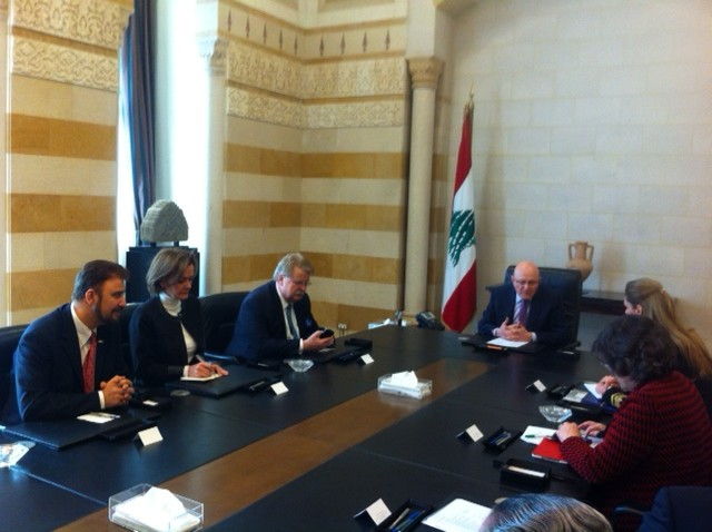 Meeting with HE Mr Tammam Salam President of the Council of Ministers .JPG