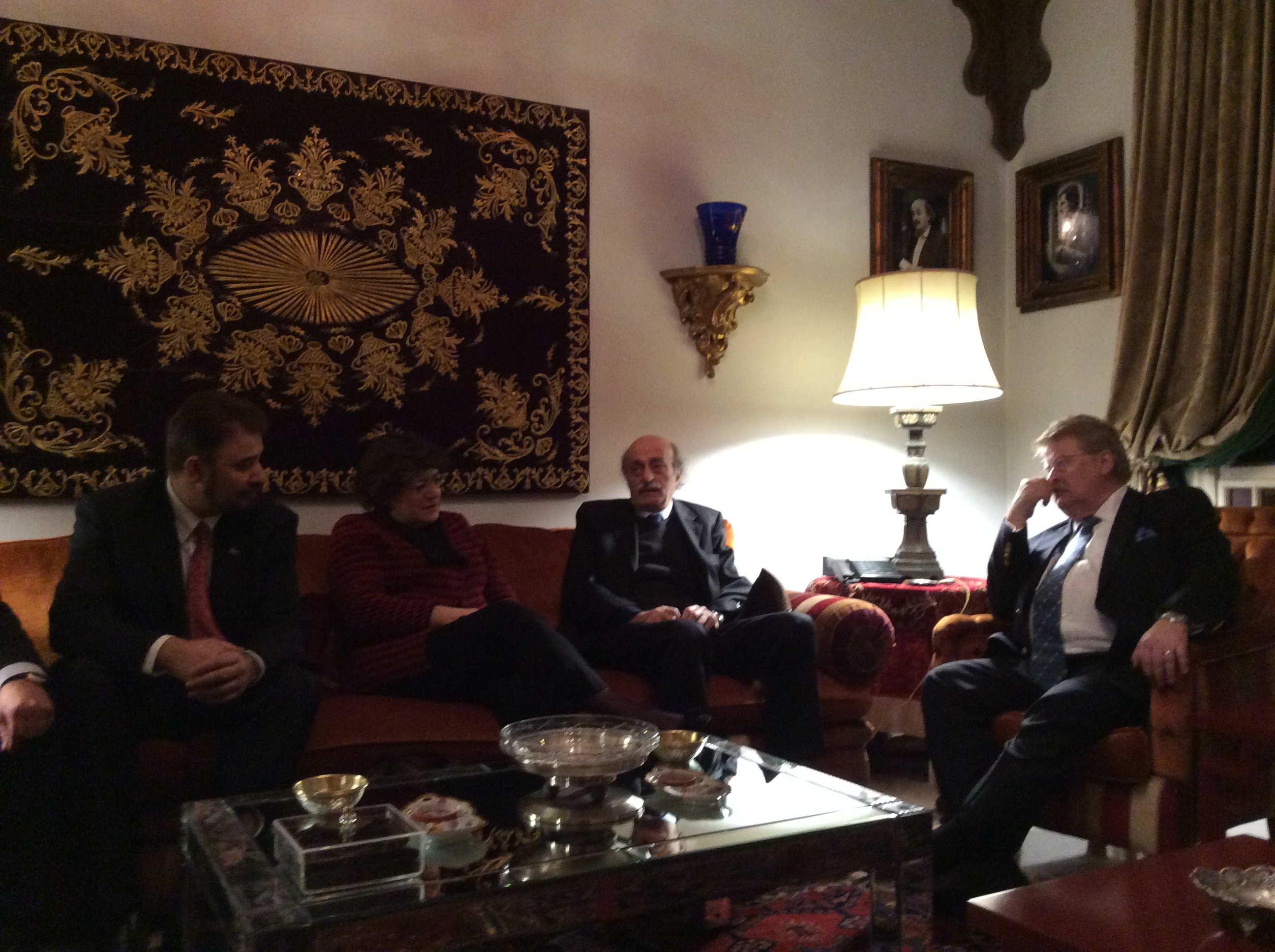 Meeting with H E  Mr  Walid Joumblatt Member of the Lebanese Parliament and Leader of the Progressive Socialist Party .JPG