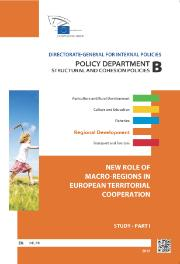 "Cover page of a Study on ""New Role of Macro Regions in European Territorial Cooperation"""