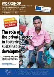 Private sector in fostering sustainable development