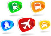 Transportation icon buttons