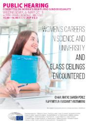 women careers in science and university and glass ceilings encountered