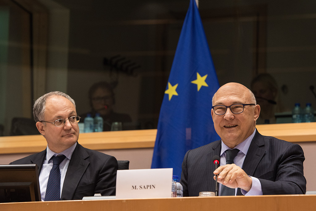 French Minister Michel SAPIN is at ECON Committee meeting