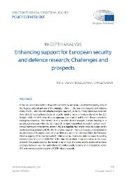 European Security and Defense Research