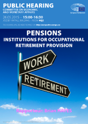 Public hearing: Pensions - institutions for occupational retirement provision