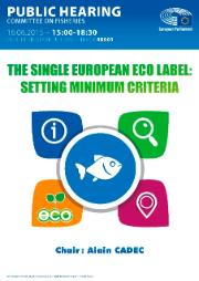 Poster of the Hearing on Single European Eco Label: Setting Minimum Criteria