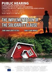 SEDE/LIBE public hearing: The Implementation of the Solidarity Clause