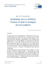 Something new out of Africa? Chinese, US and EU strategies for the continent