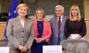 SEDE Chair Mrs Fotyga / IMCO Chair Mrs Ford /ITRE Chair Mr Buzek with Commissioner Bienkowska