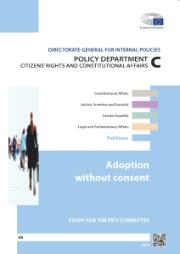 Cover page of the study for the petitions committee on adoption without consent
