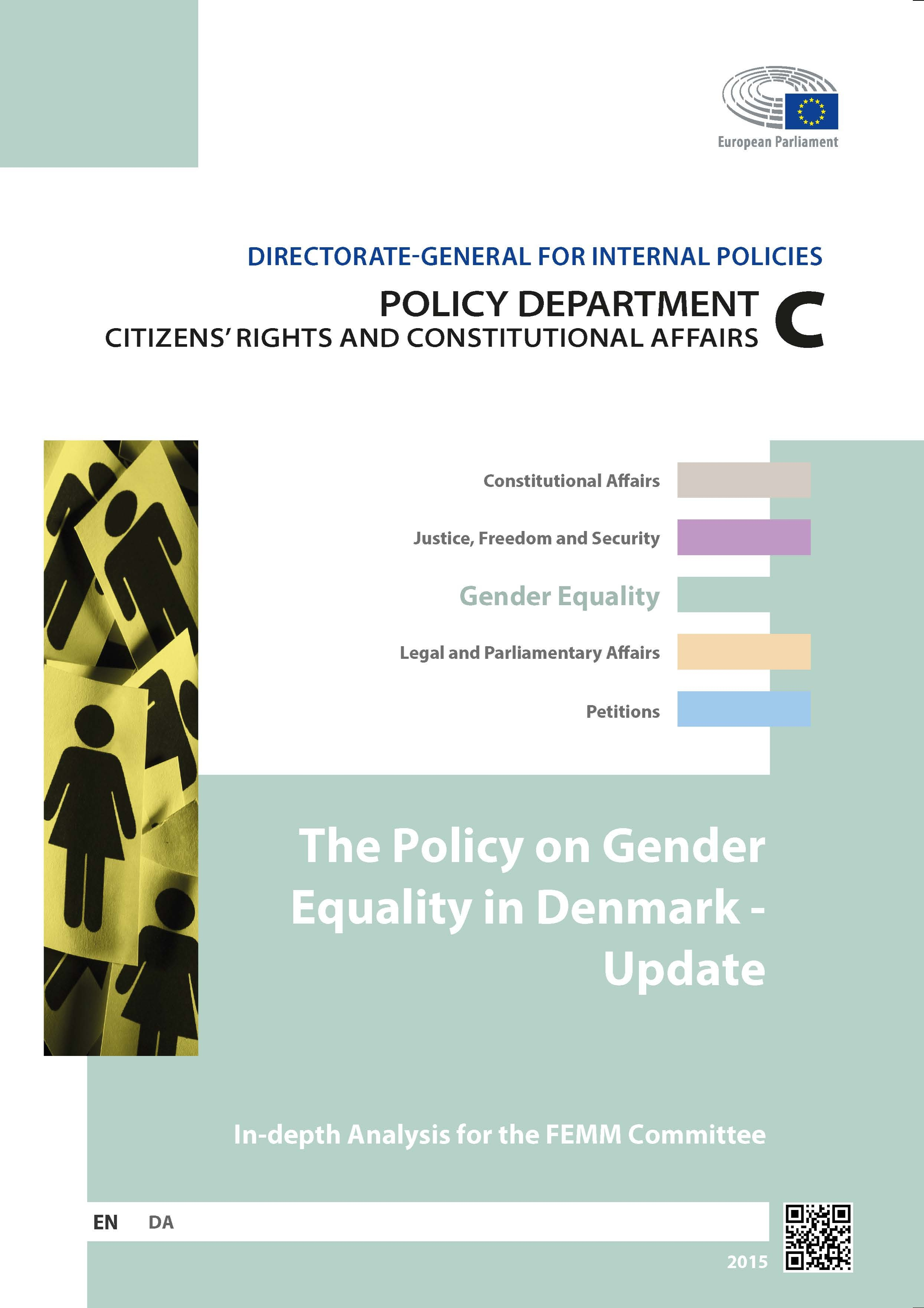 policy gender equality Denmark update