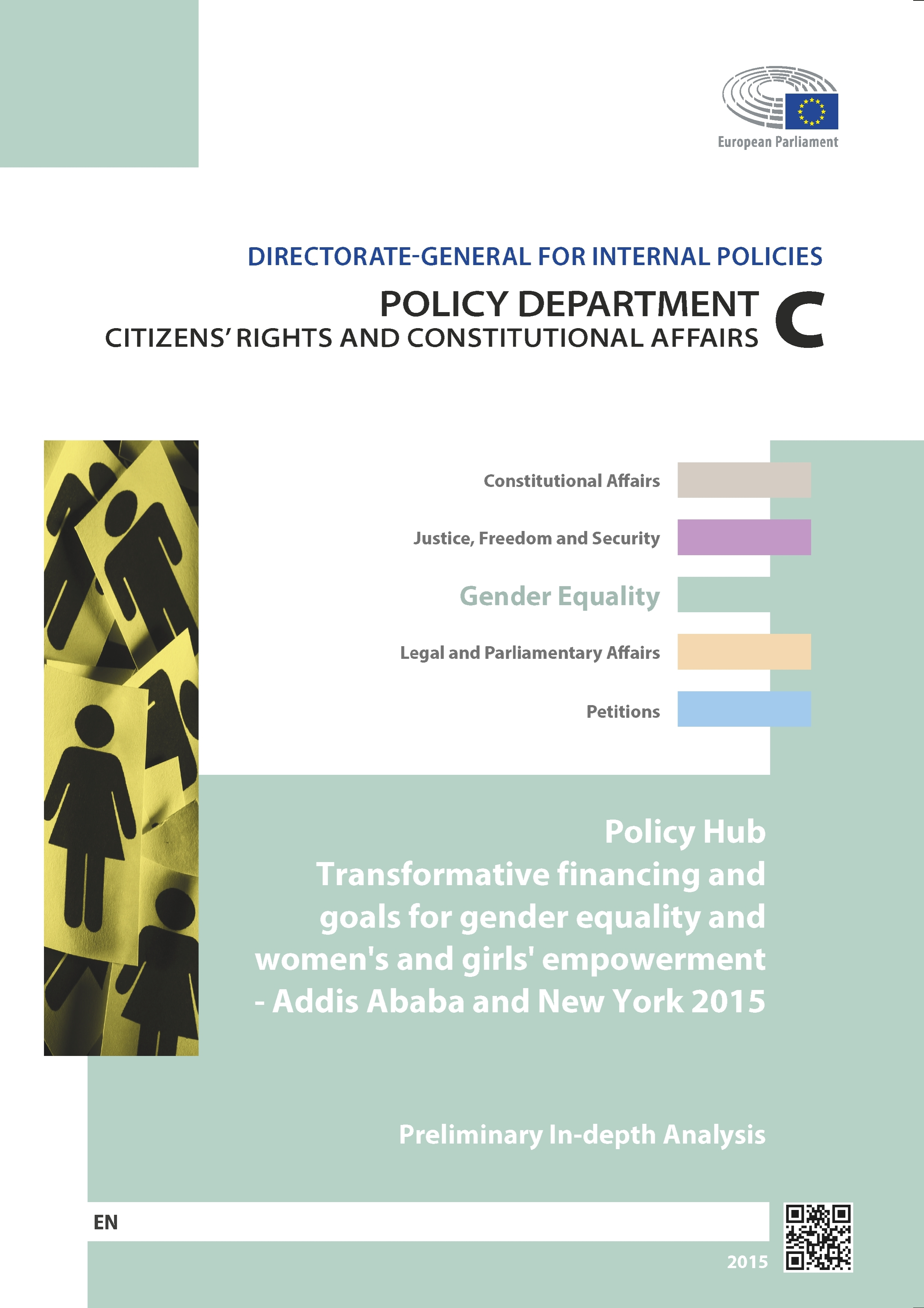 Policy hub transformative financing and goals gender equality women's and girls empowerment Addis Ababa New York 2015