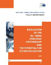 Evaluation of the EU-India Strategic Partnership and the potential for its revitalisation