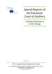 EPRS study on ECA Special Reports - A Rolling Check-list of recent findings