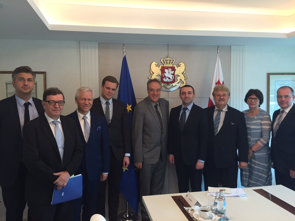AFET Delegation meets Irakli Garibashvili, Prime Minister of Georgia