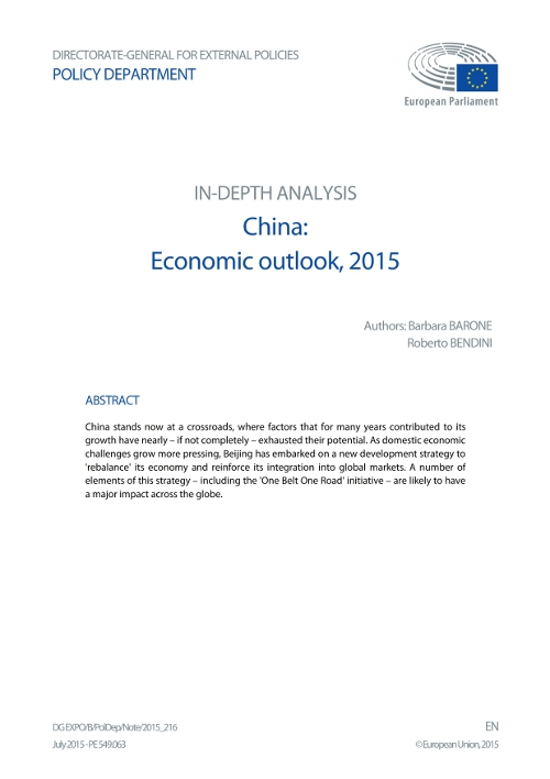 China: Economic Outlook, 2015