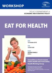 Poster workshop - Health working group - Eat for health, lady eating avocado