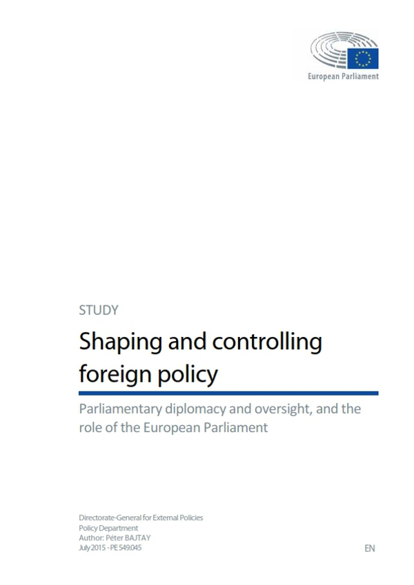 Study - shaping and controlling foreign policy