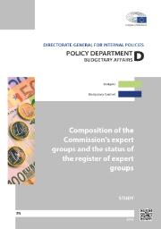 Study: Composition of the Commission's expert groups and the status of the register of expert groups