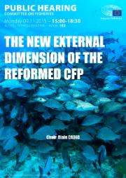 Poster for the Public Hearing on the New External Dimension of the Reformed Common Fisheries Policy (CFP)