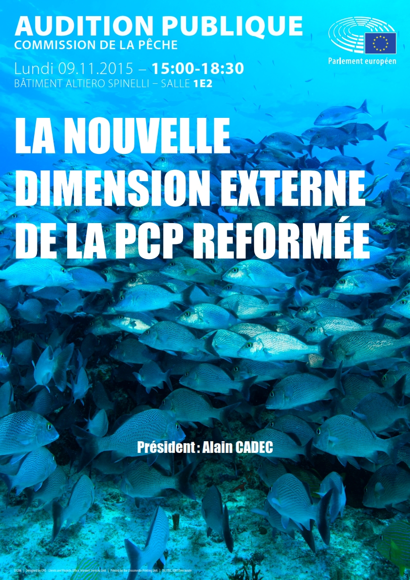 Poster for the Public Hearing on the New External Dimension of the Reformed Common Fisheries Policy (CFP)_fr