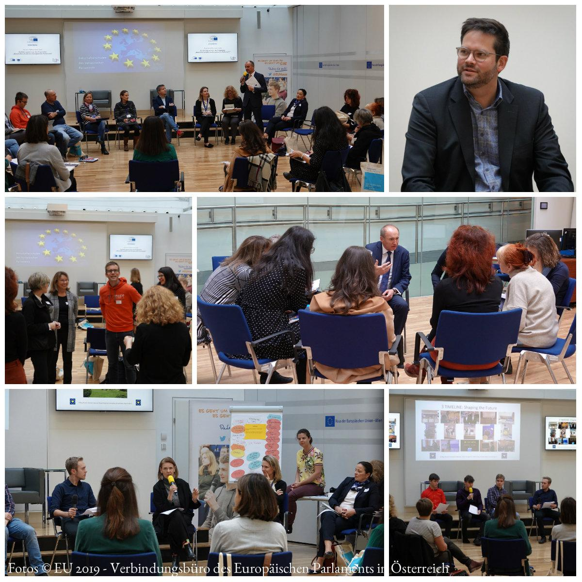 Collage: Einführungsseminar am 11. November 2019