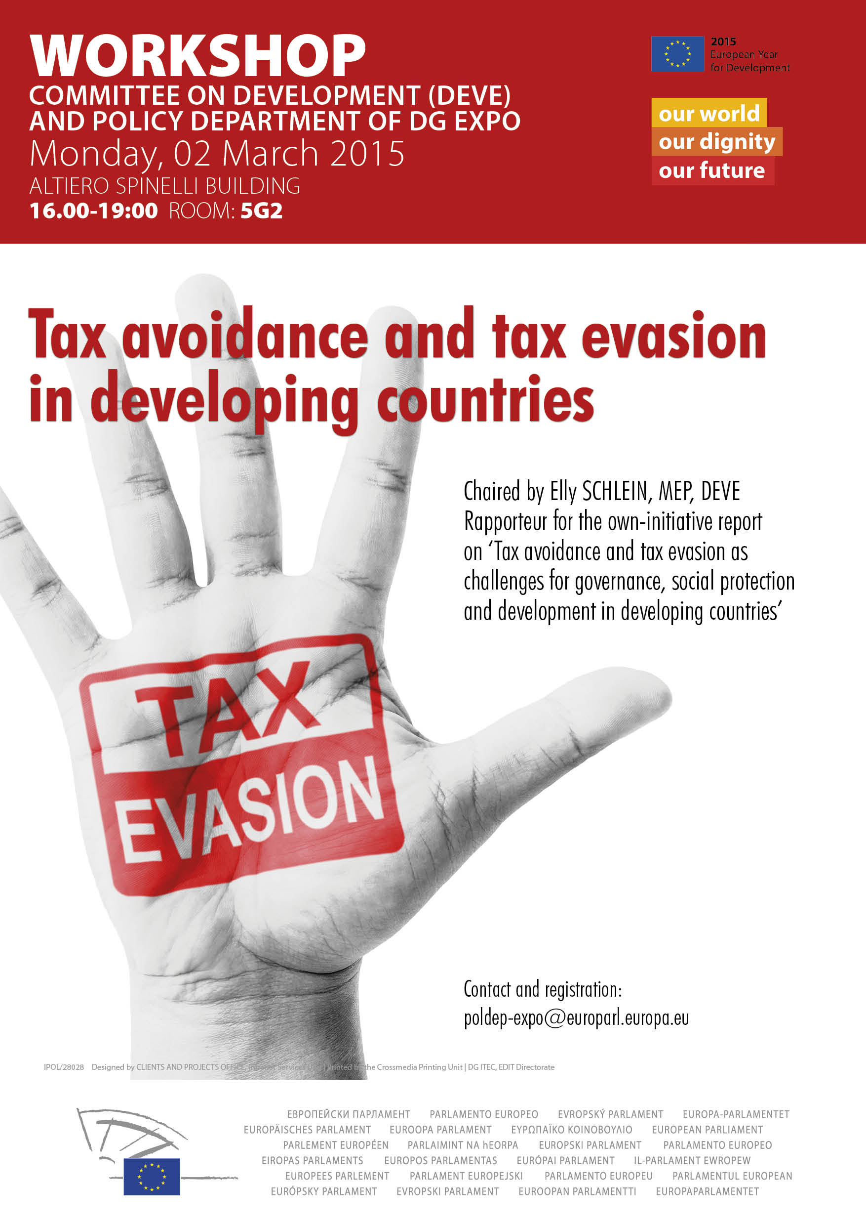 Poster Workshop on Tax avoidance