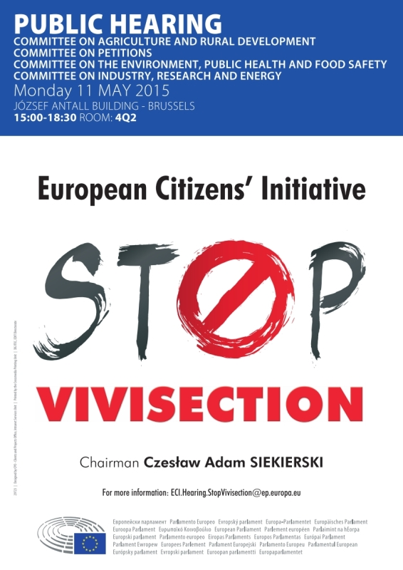 Stop Vivisection: European Citizens' Initiative public hearing