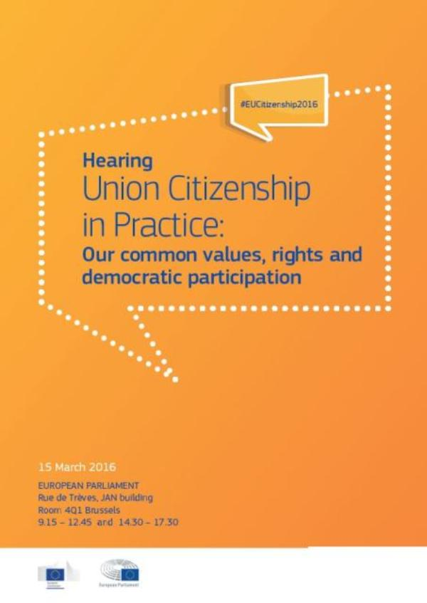 Poster Hearing Union Citizenship in Practice