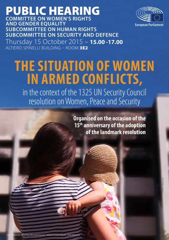 Poster - hearing on Women in armed conflicts