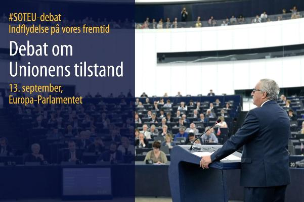 Juncker holder SOTEU-tale for MEP'erne