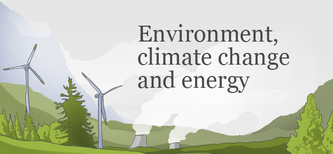 Environment, climate change and energy