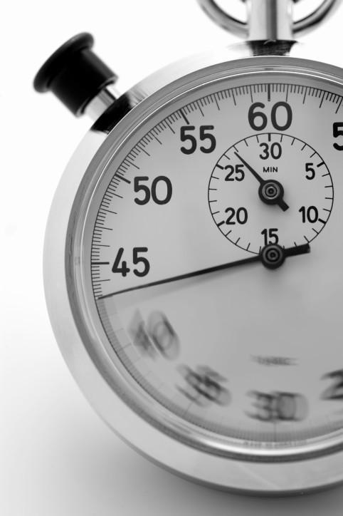 Stoppuhr - die Zeit rennt