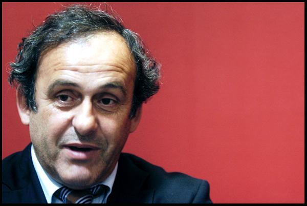 Prezident UEFA Michel Platini