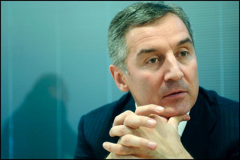 Milo Djukanovic, primul ministru din Muntenegru, la Parlamentul European