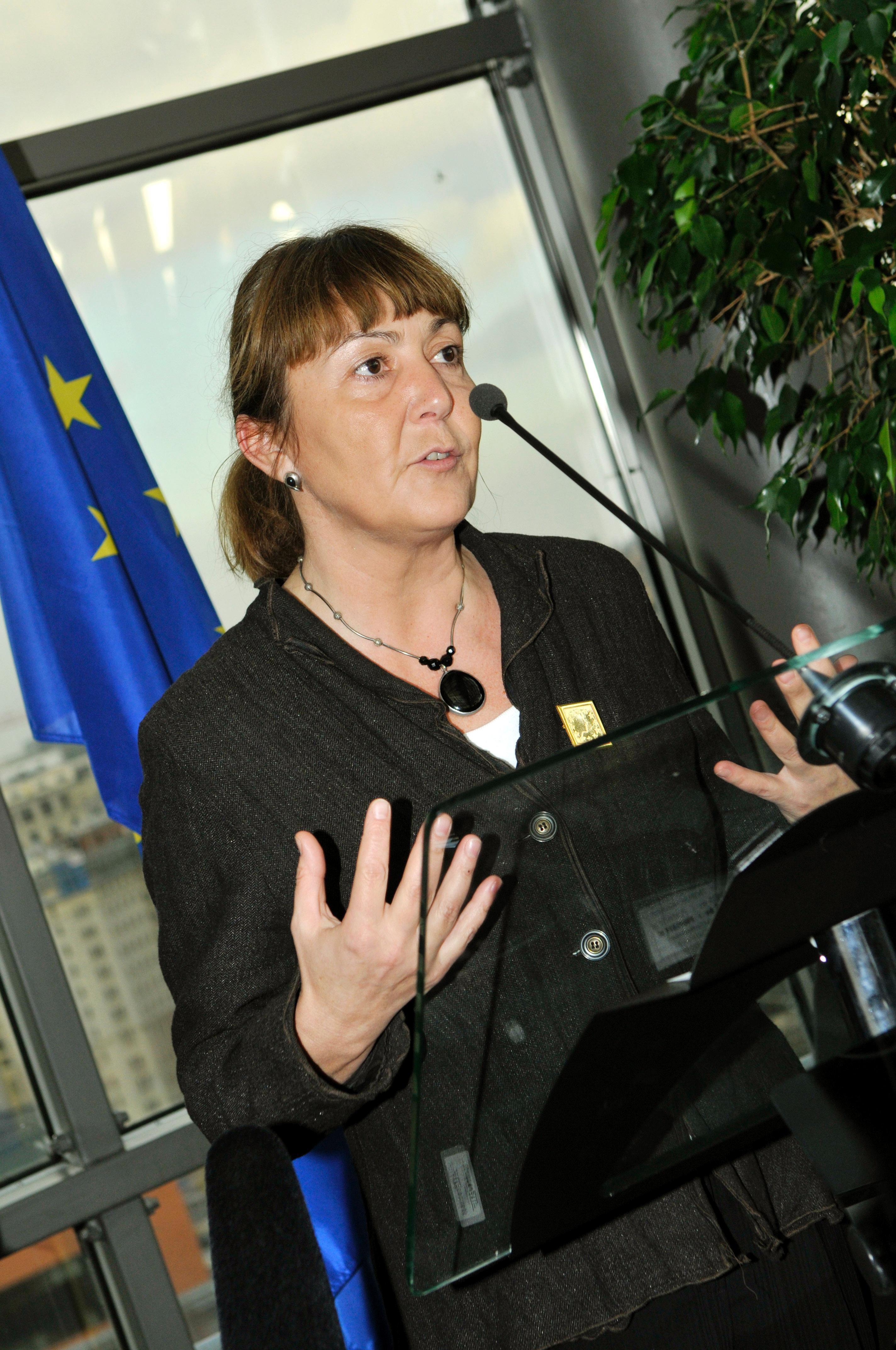 Monica Macovei la ceremonia de decernare a premiului