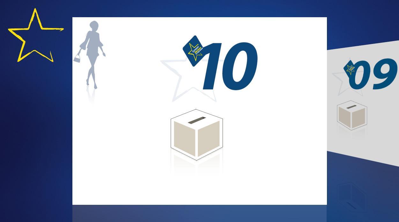 Λογότυπο των ευρωεκλογών 2009 και κάλπη