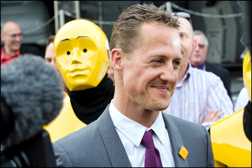 Michael Schumacher at the EP in Strasbourg