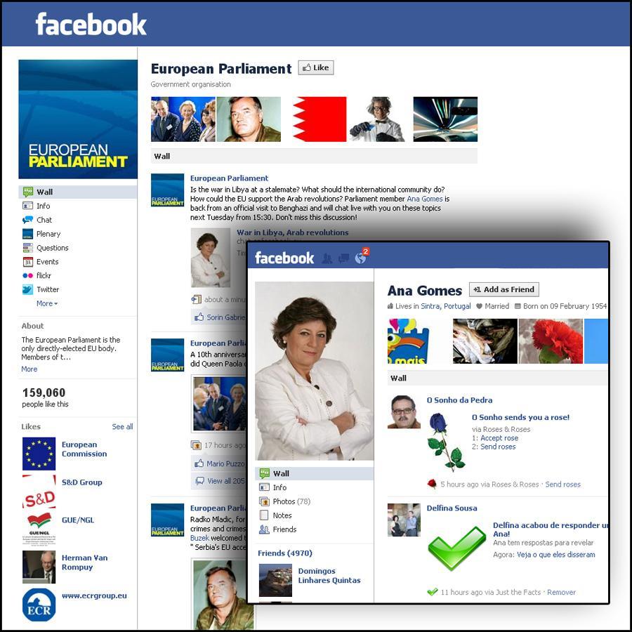 Η Πορτογαλίδα ευρωβουλευτής Ana Gomes συζητά για τη Λιβύη και τις άλλες αραβικές επαναστάσεις με τους φίλους του ΕΚ στο Facebook