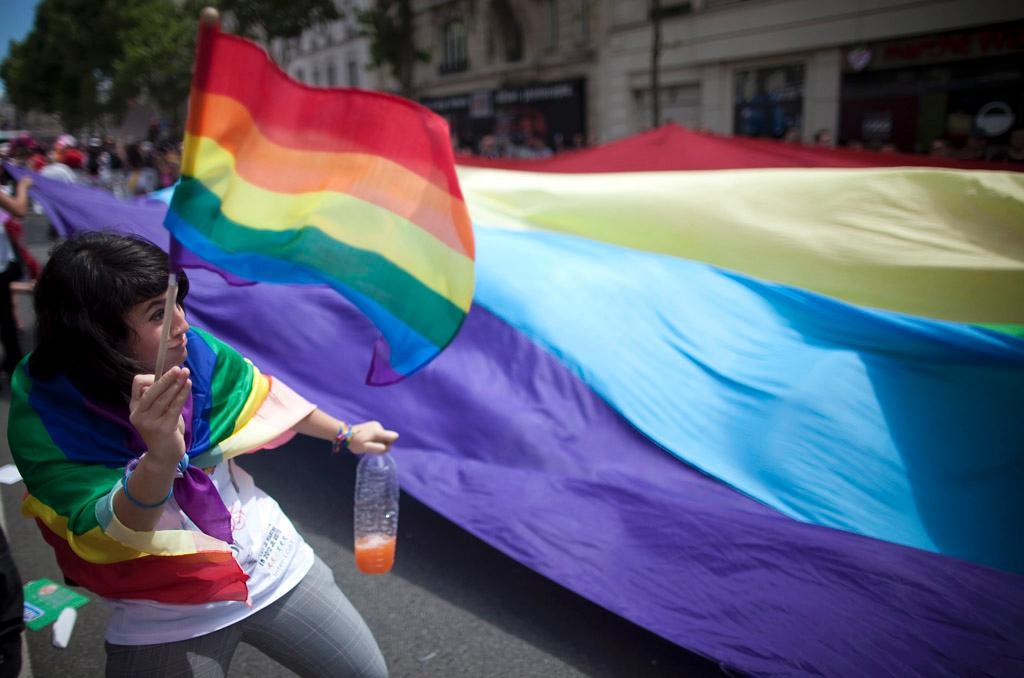 Marche des fiertés à Paris, le 25 juin 2011. ©BELGA/EPA/I.Langsdon